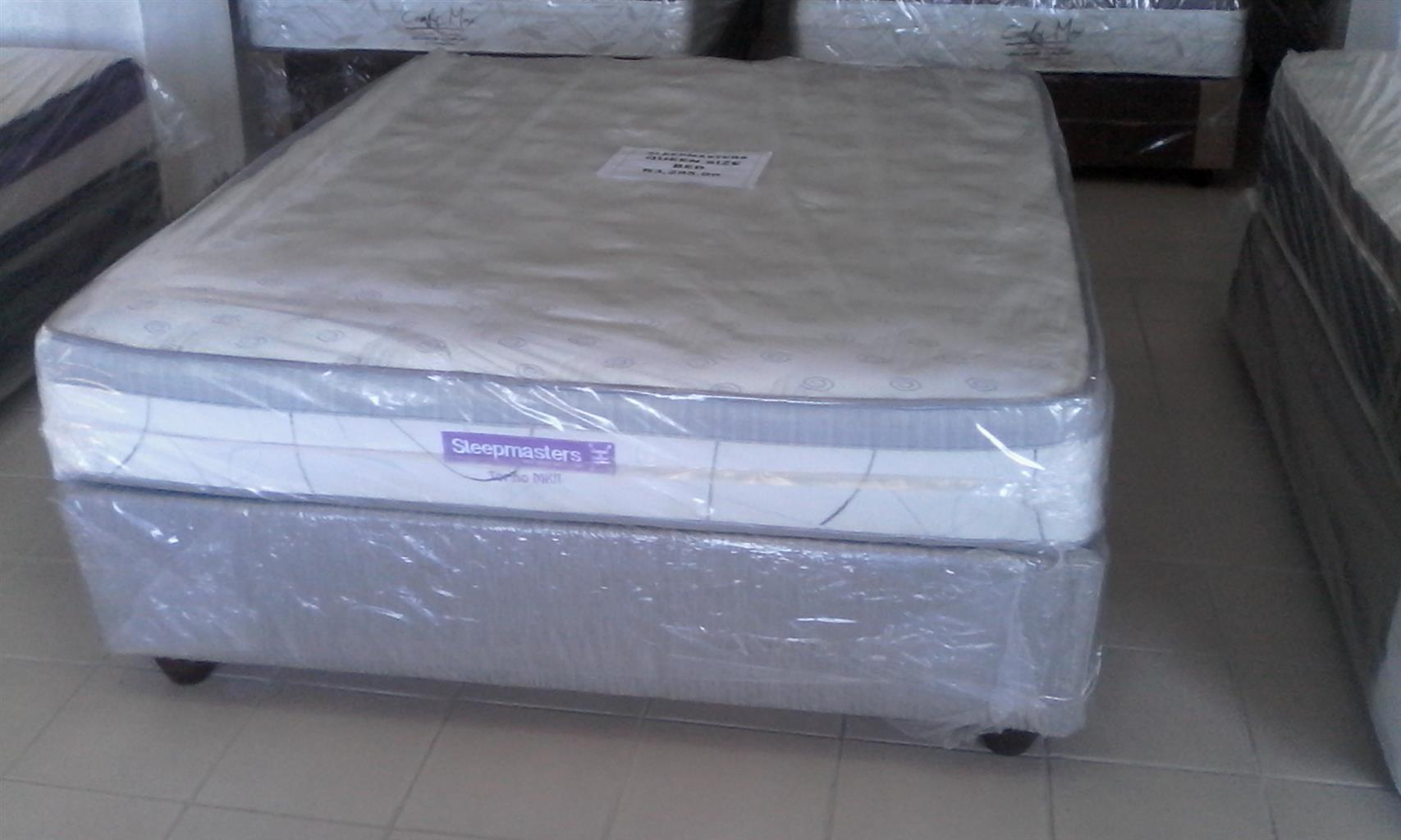 New Double Size Restonic/Edblo/Sleepmasters/Comfy Max/Sealy Beds from R2700