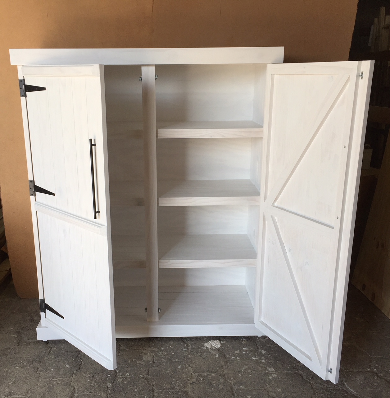 Grocery Cupboard Farmhouse series 1700 extended width - White washed