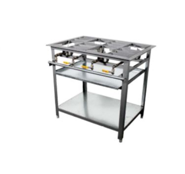 6 BURNER BOILING GAS TABLE STAINLESS STEEL (1350x600x850mm)-6BGBTSS