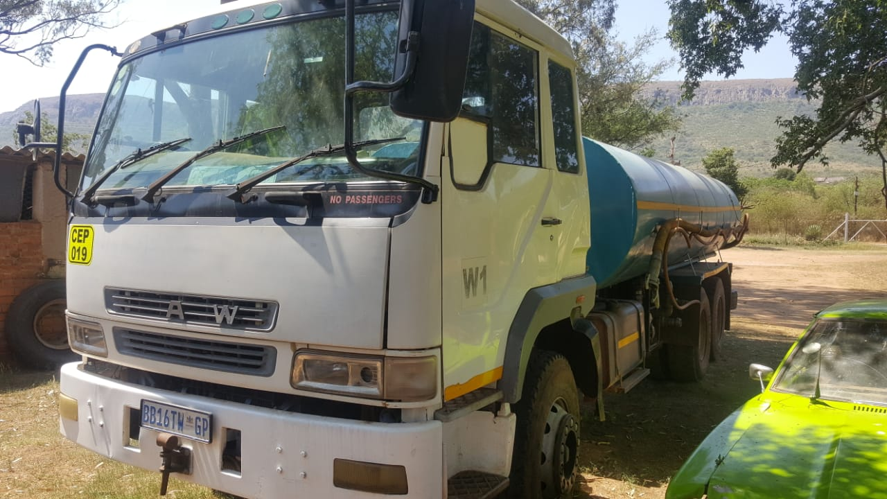 Truck hire business. Water trucks with current work.