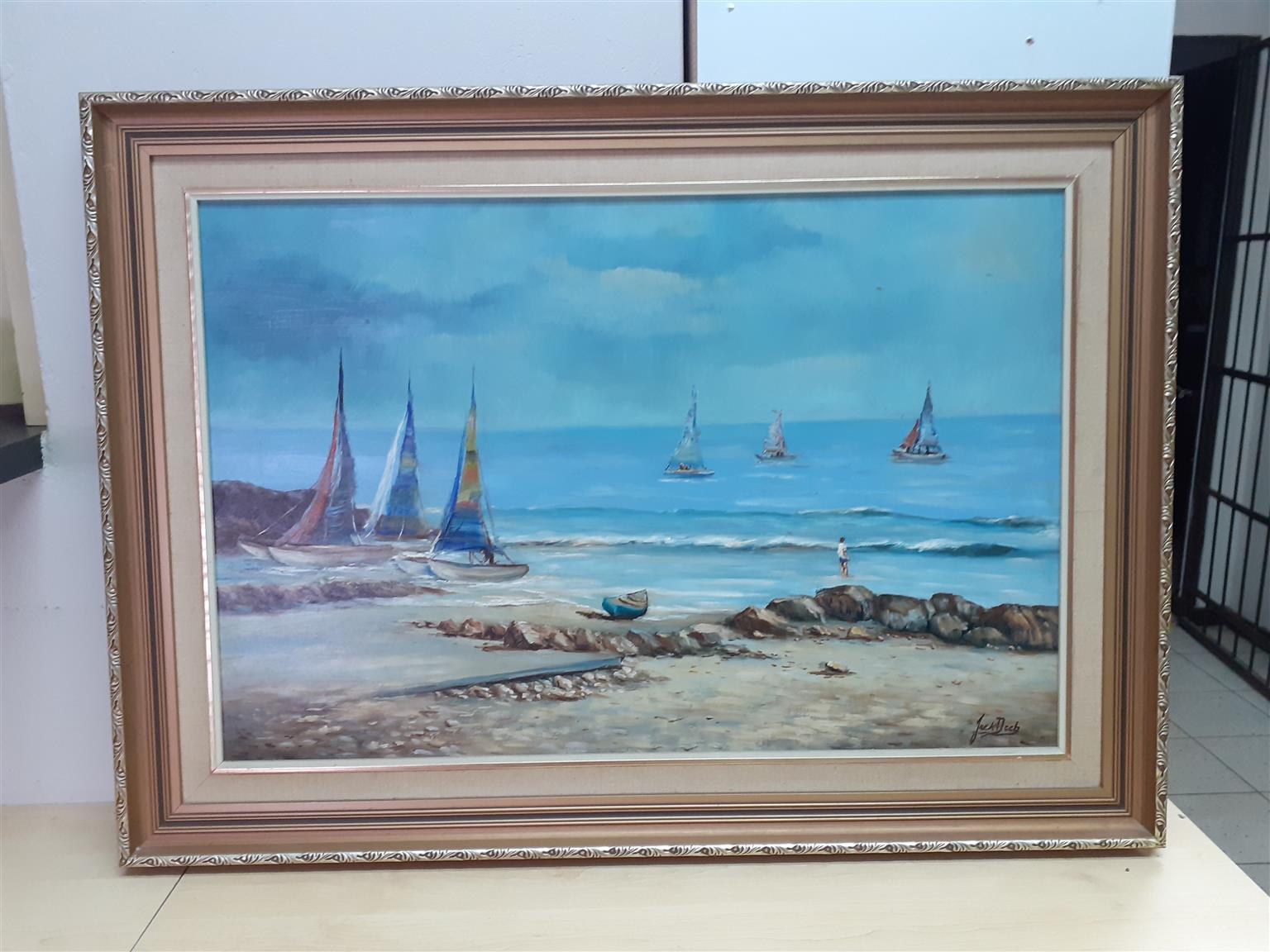 Framed Art work - Seaside