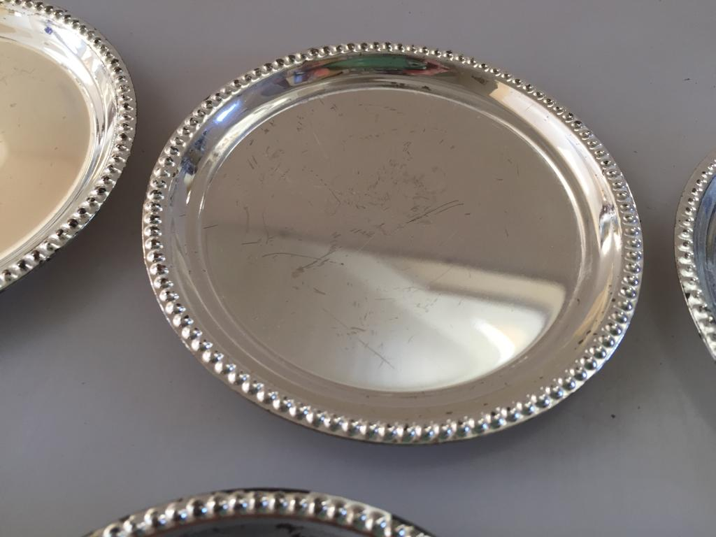 Set of 6 metal coasters - Priced to clear