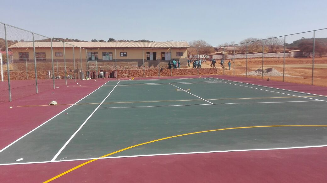 VOLLEYBALL COURTS CRACK REPAIR