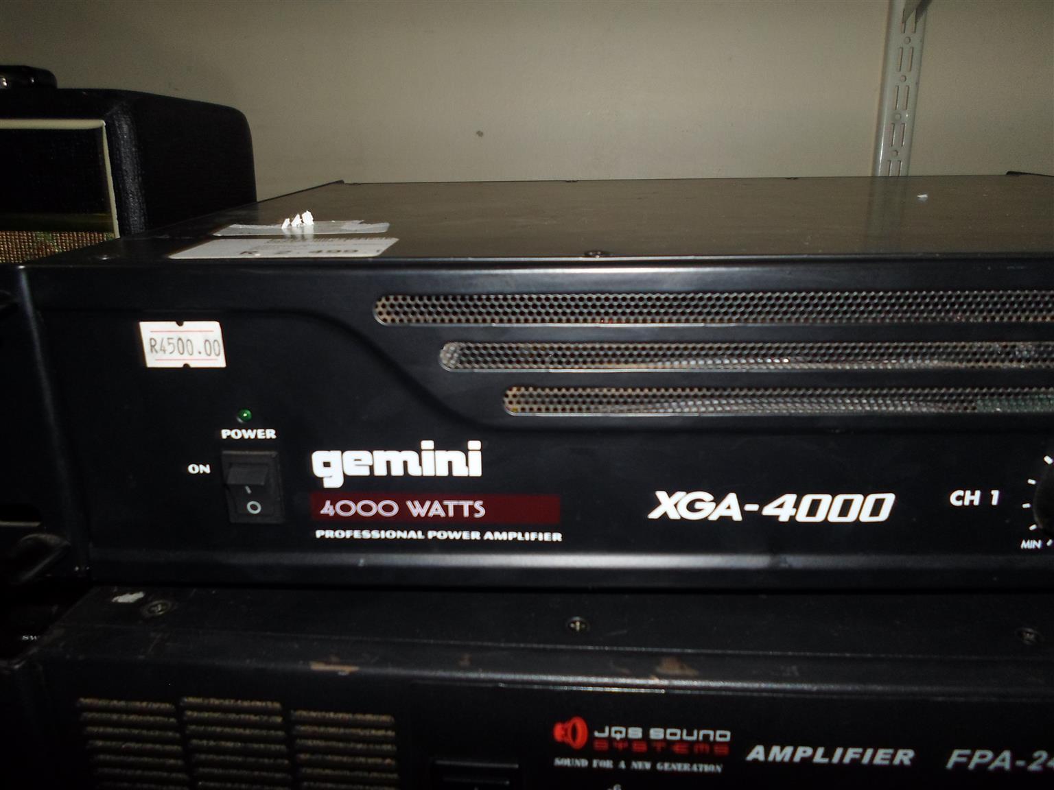 Gemini XGA-4000 3 Channel Amplifier