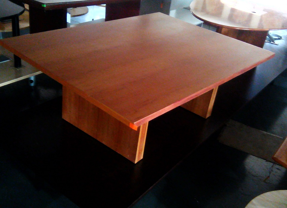 6-8 seat cherry wood boardroom table