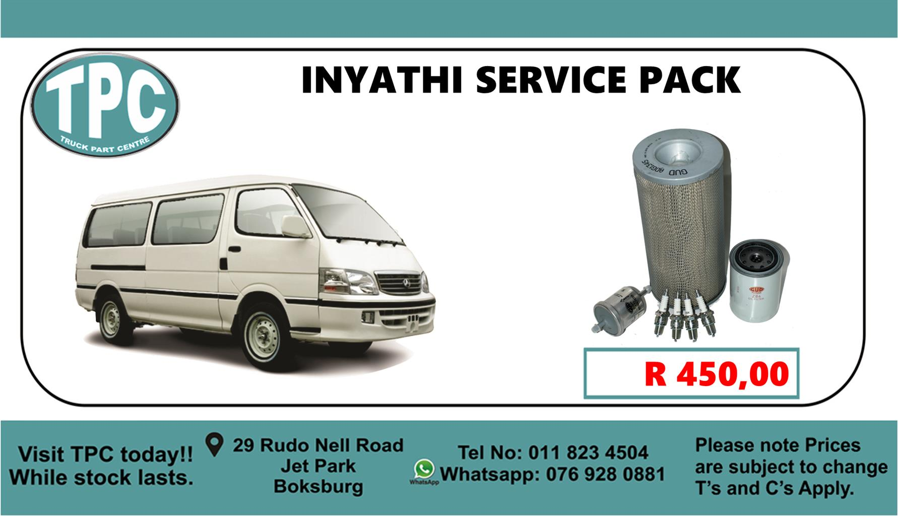 Inyathi Service Pack - For Sale at TPC