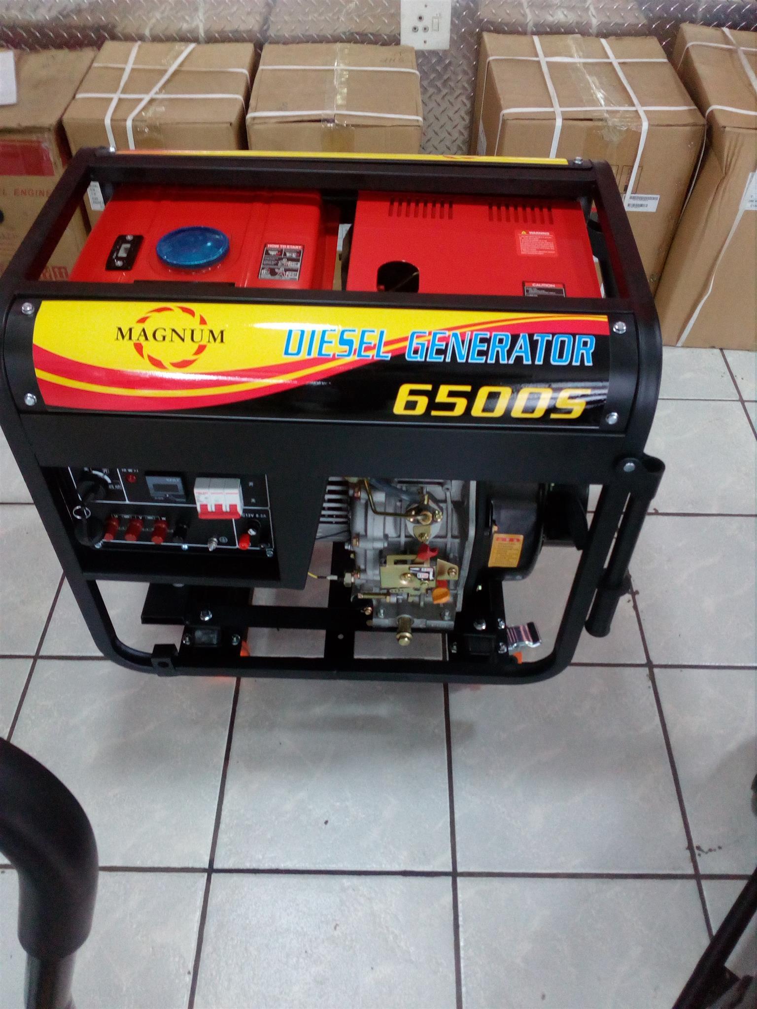 Magnum 3 phase Diesel Generator 6.5 kva Price incl Vat