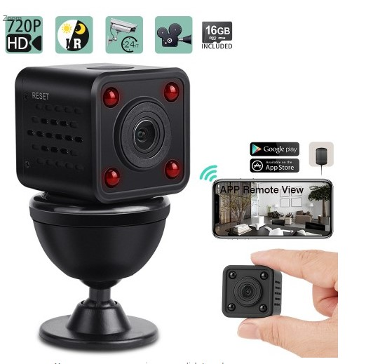 Wireless Night Vision Cube Camera - Spy Shop