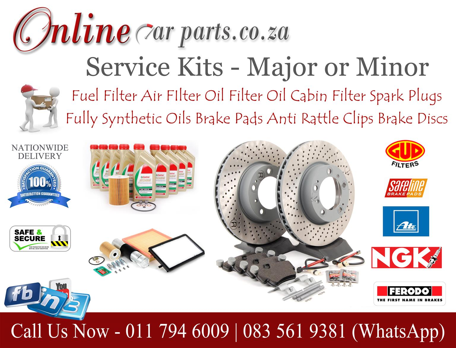 High Quality Major and Minor Service Kits