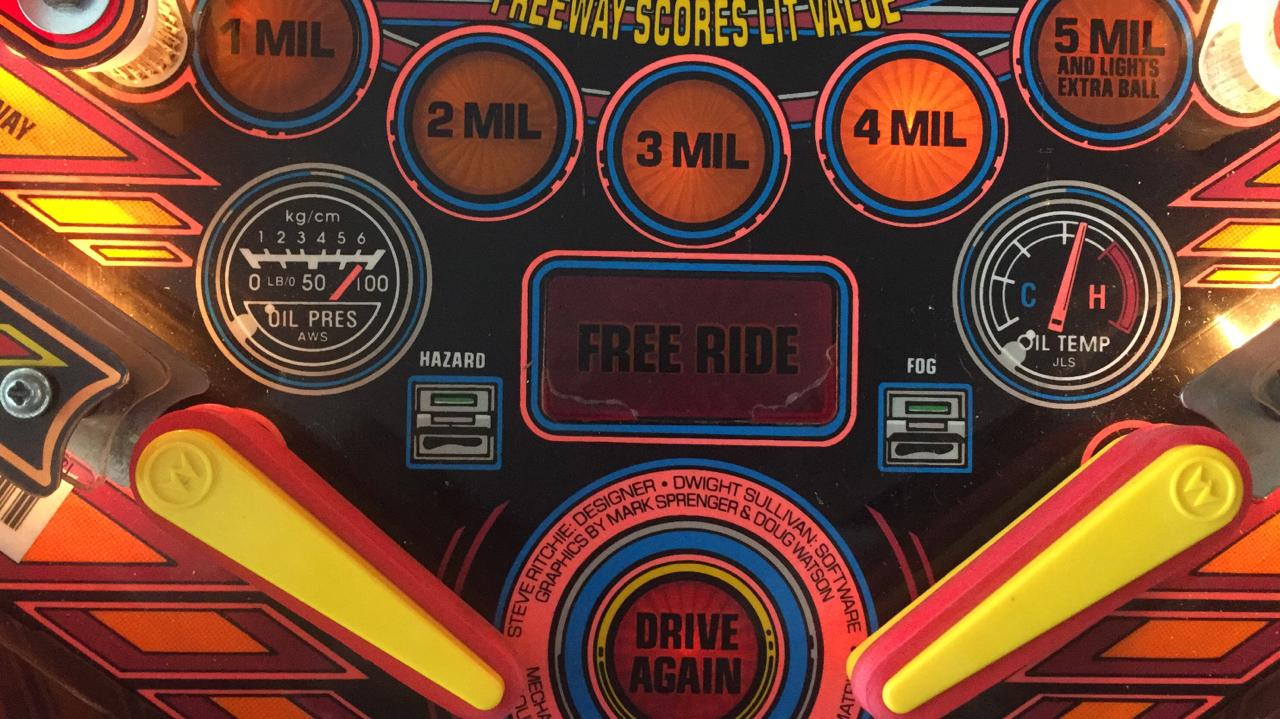 The Getaway Pinball Machine for sale, sequel to High Speed