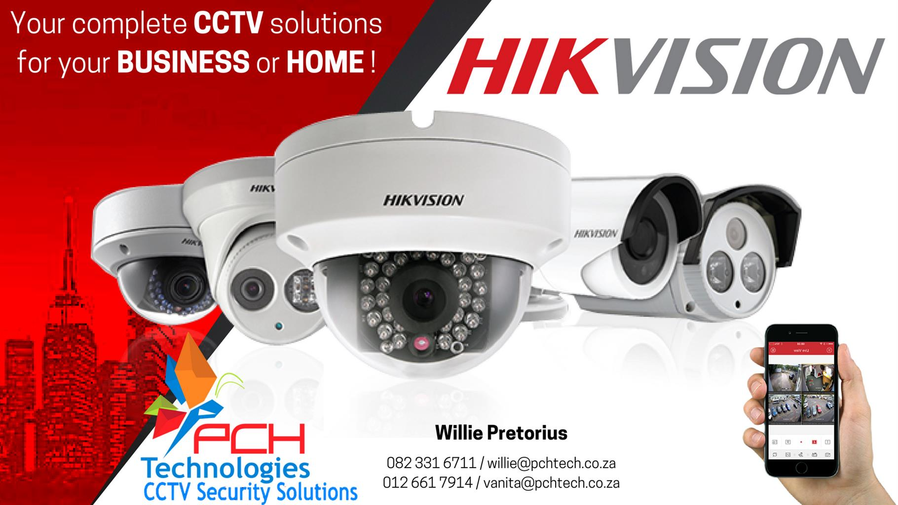 INSTALLERS OF HIKVISION CCTV SYSTEMS IN YOUR HOME OR BUSINESS.