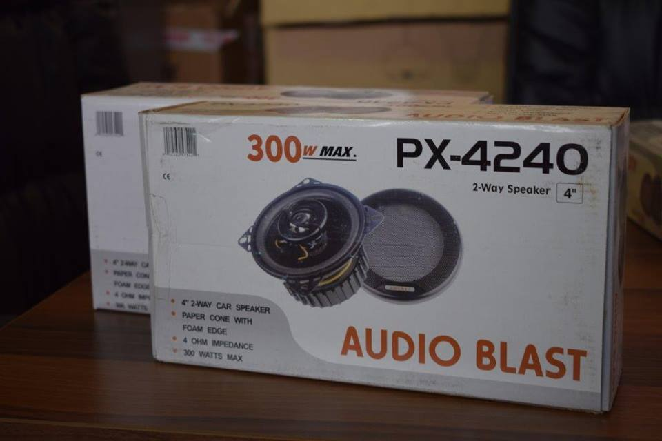 Audio blast car speaker