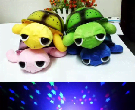 Musical Turtle Night Light - Pink