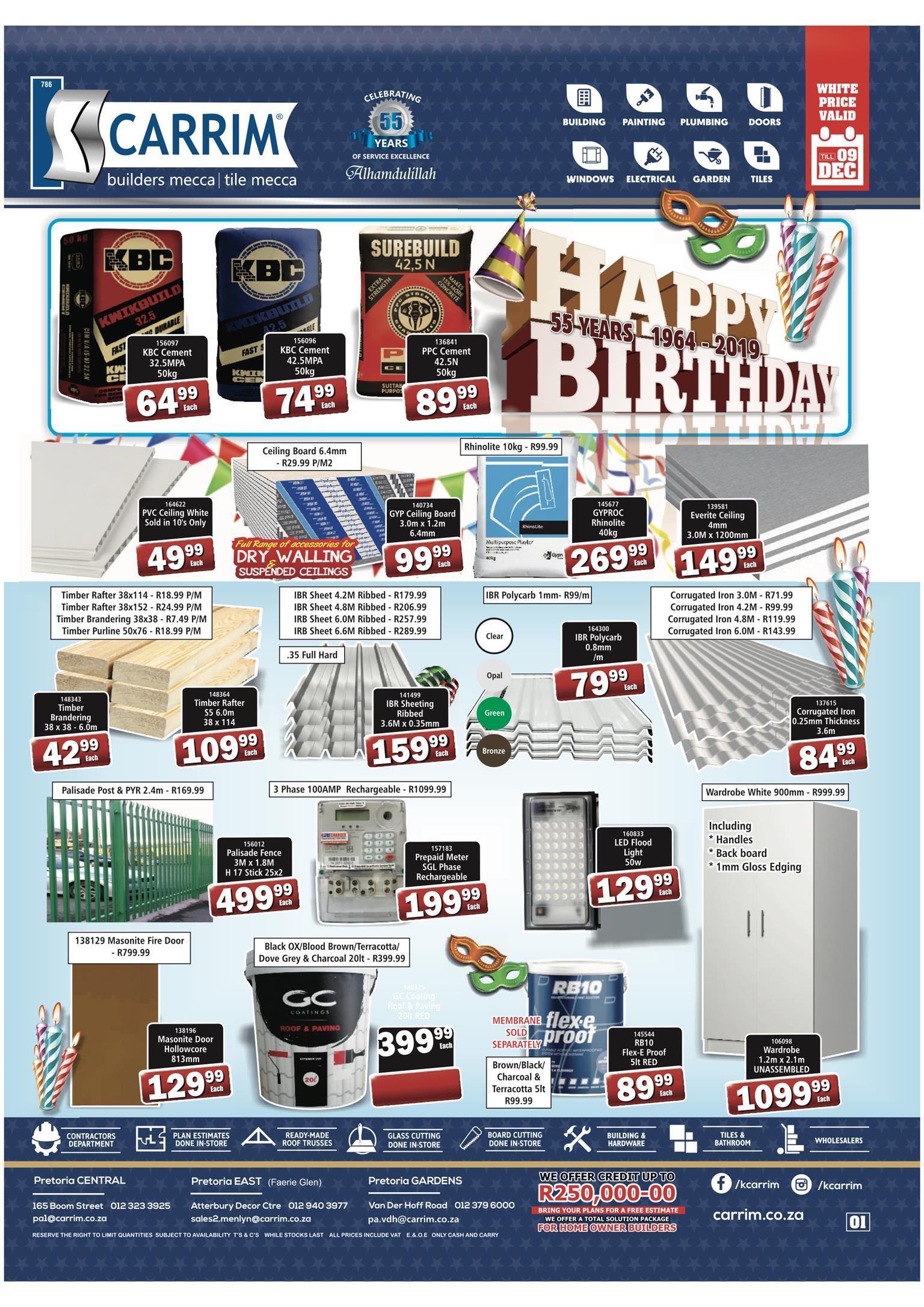 K CARRIM : Birthday Special