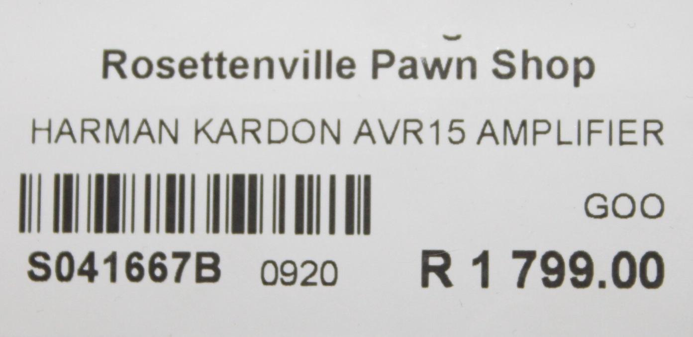 Harmon kardon amplifier S041667B #Rosettenvillepawnshop