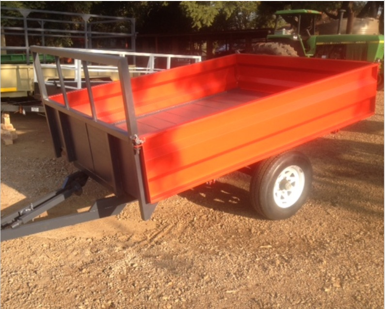 S3102 Red Verrigter 2 Ton Farm Trailer / 2 Ton Plaas Wa New Trailer