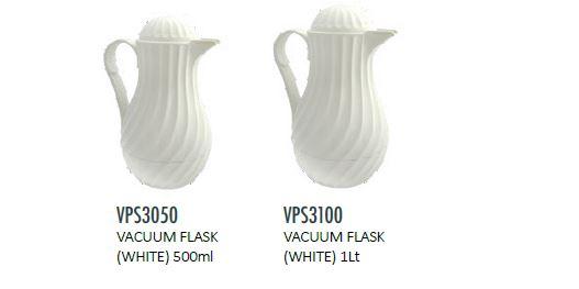 VACUUM FLASK (WHITE)-GLASS
