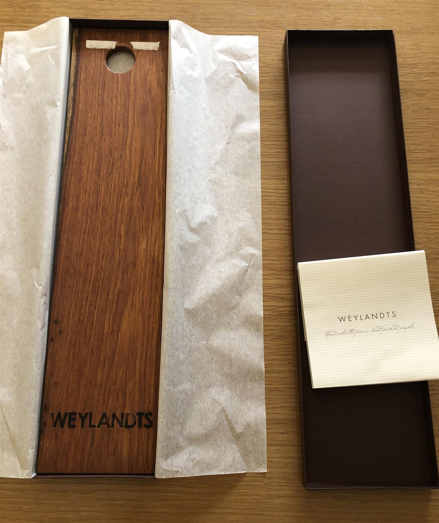 Weylandts Kiaat Solid Wood Baguette Board