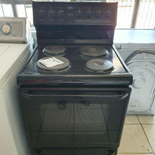Defy black stove