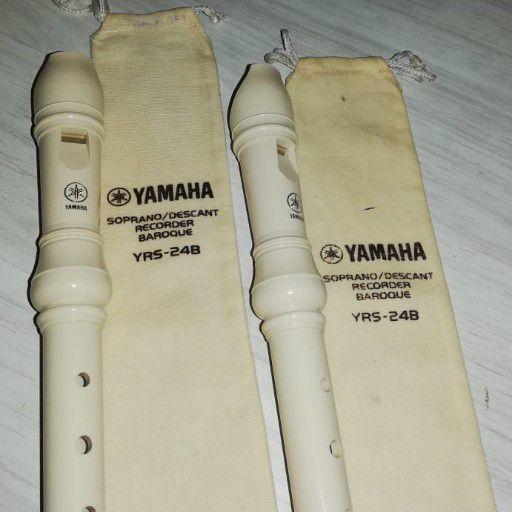 Yamaha Soprano/Descant Recorder YRS-24B 2 units both for R140