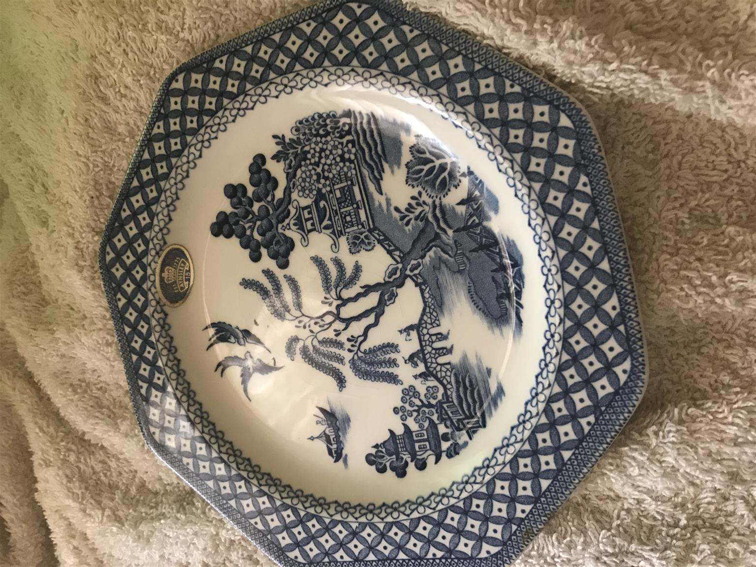 Decorative cup and plates