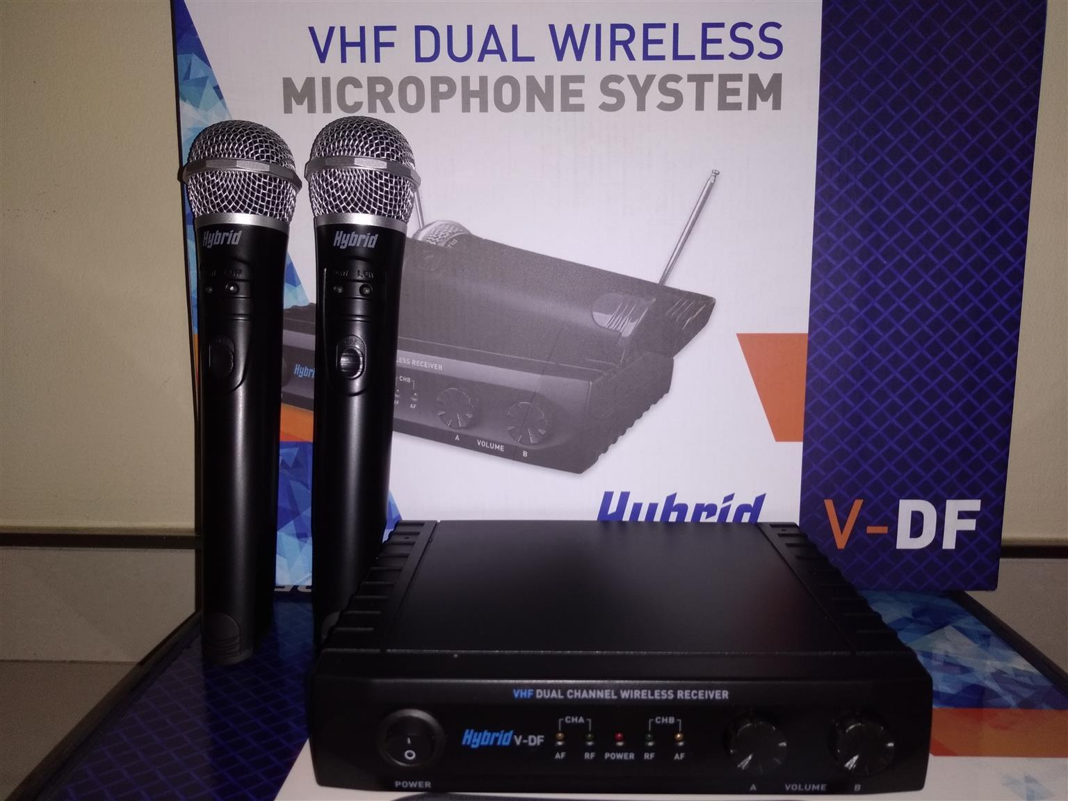 Hybrid V-DF Dual Handheld Mic