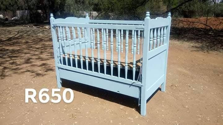 Blue cot for sale