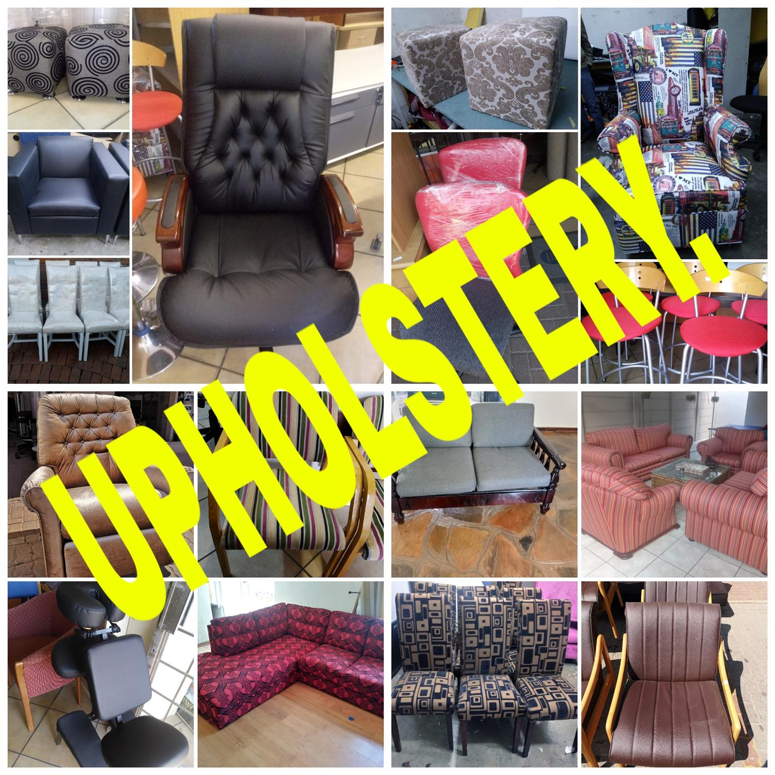Re upholstery of couches and chairs