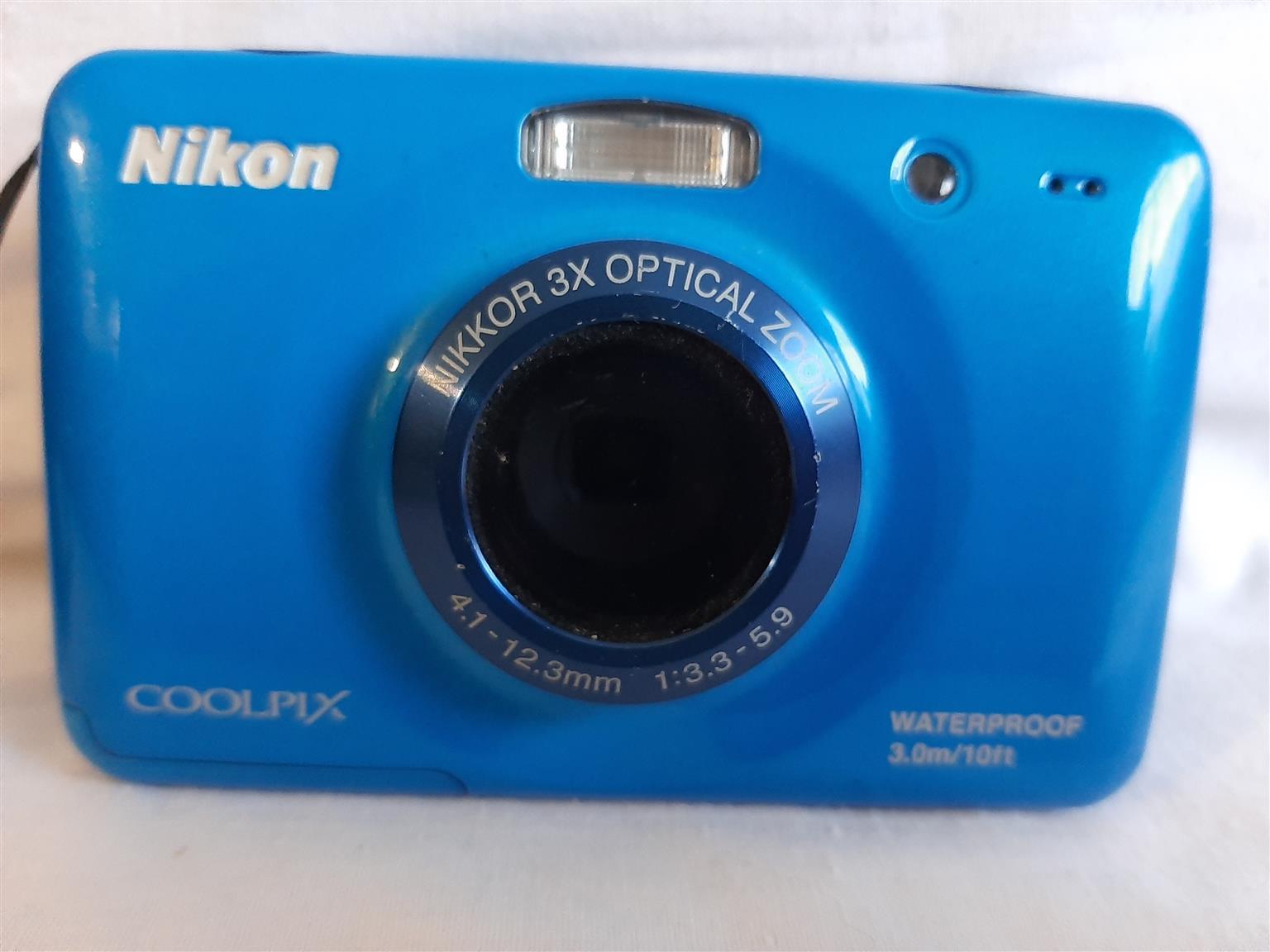 Blue Nikon Waterproof Camera
