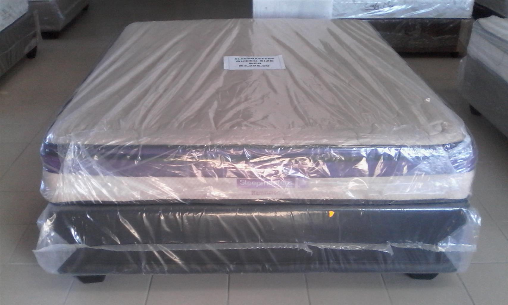 New Queen Size Restonic/Edblo/Sleepmasters/Comfy Max/Sealy Beds from R2900