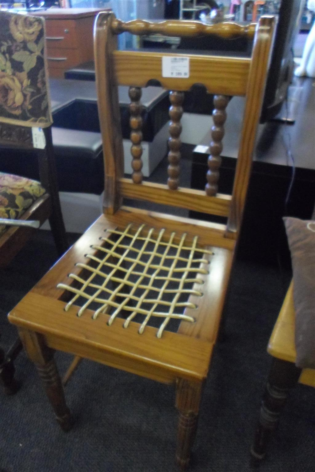 2x Wooden Riempies Chairs - B033042112-9-10