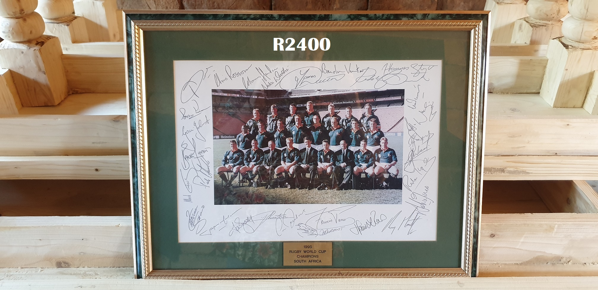 1995 Signed Picture of Rugby World Cup Champions South Africa (560x445)