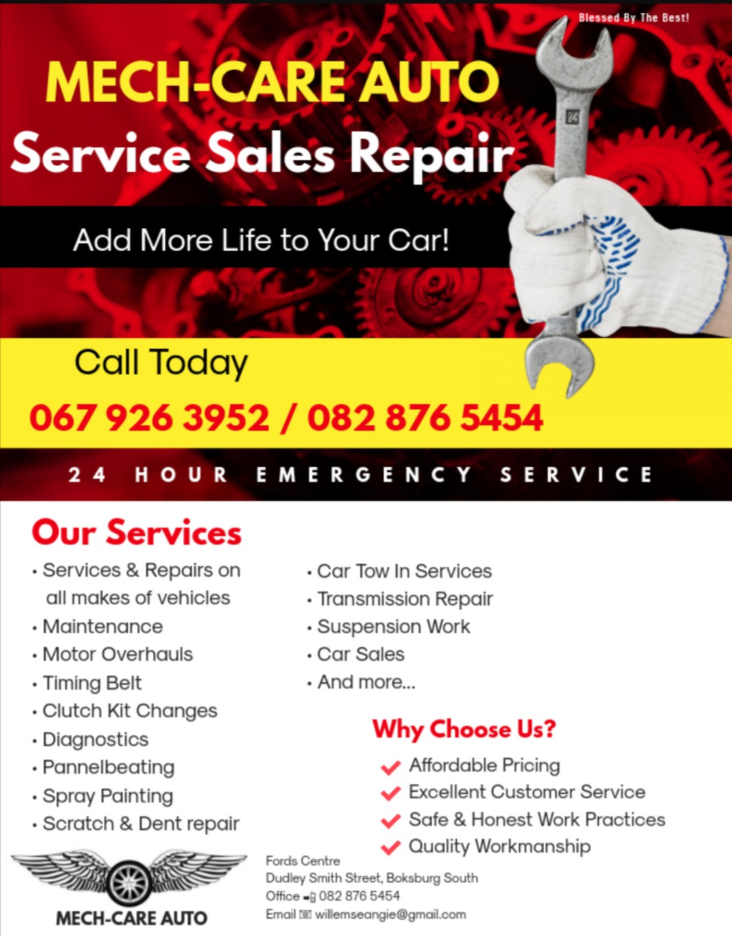 Vehicle services sales and repairs