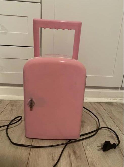 Mini pink fridge for sale