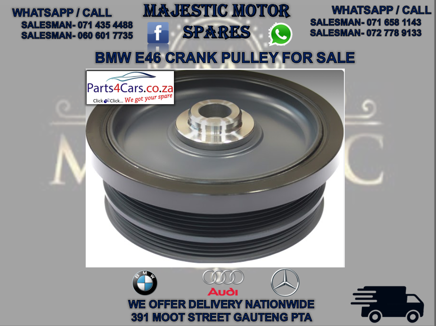 BMW e46 crank pulley for sale
