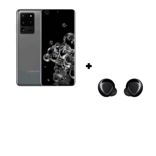 Samsung Galaxy S20 Ultra 128GB Dual Sim – Cosmic Grey + Samsung Galaxy Buds+ Black