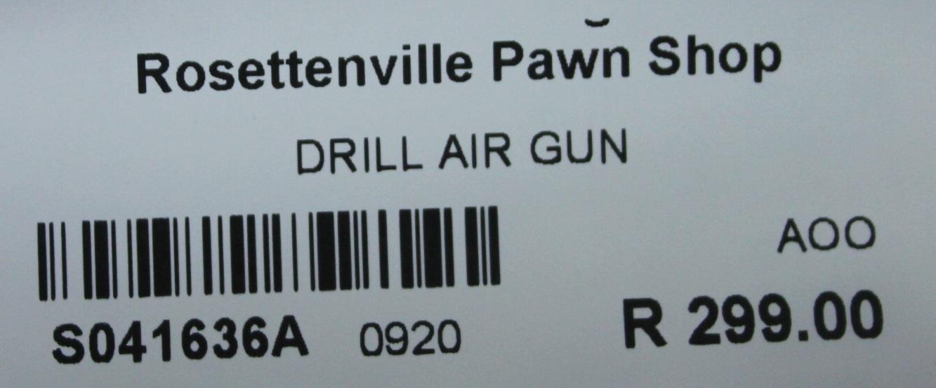 Drill air gun S041636A #Rosettenvillepawnshop