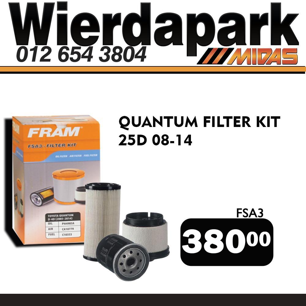 Quantum Filter Kit ONLY R380 at Wierdapark Midas!