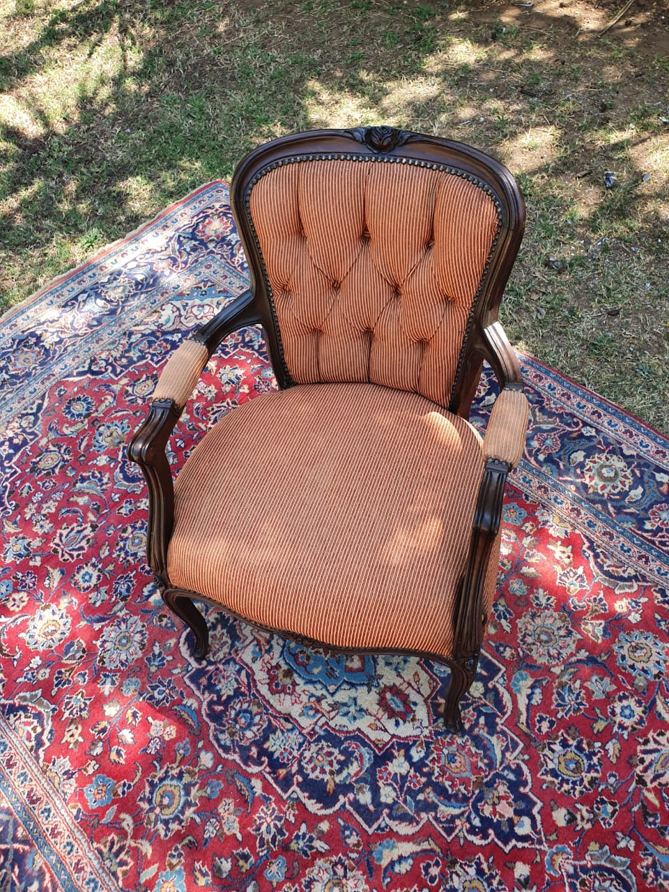 Antique Orange Chair