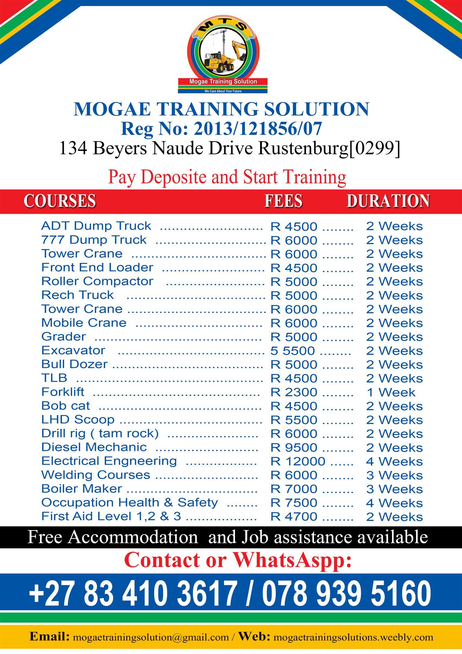 Mogae Training Solution,Tzaneen,Limpompo