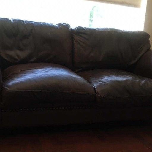 Original Coricraft Afrique Genuine Leather Couches 2x 2