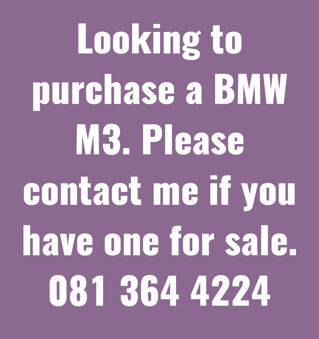 Wanted!! BMW M3
