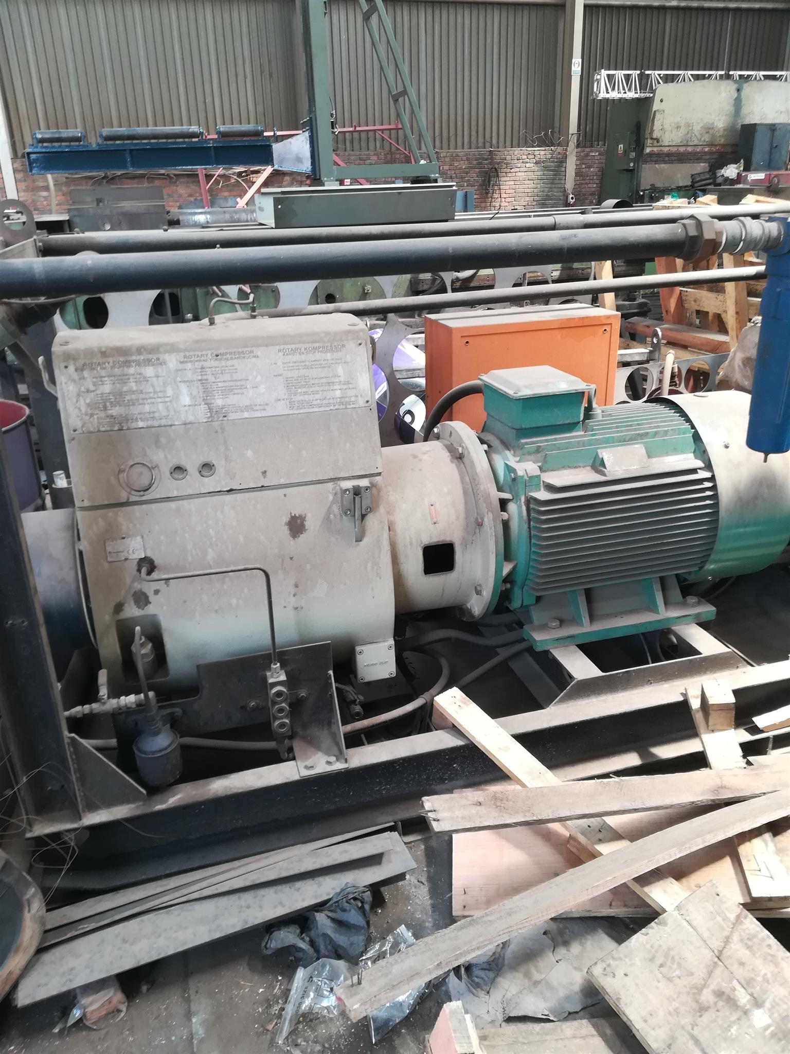 Mattei C450 rotary vane compressor for sale