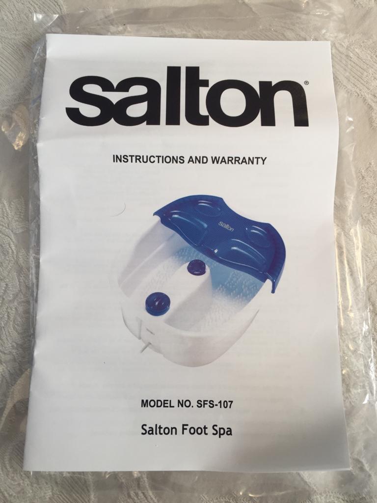SALTON - Foot Spa Sfs-107 - give your feet a treat!