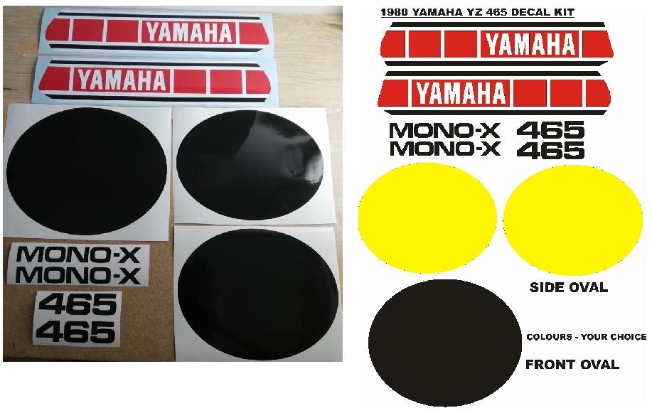 1980 Yamaha YZ 465 decals graphics, vinyl stickers kits.