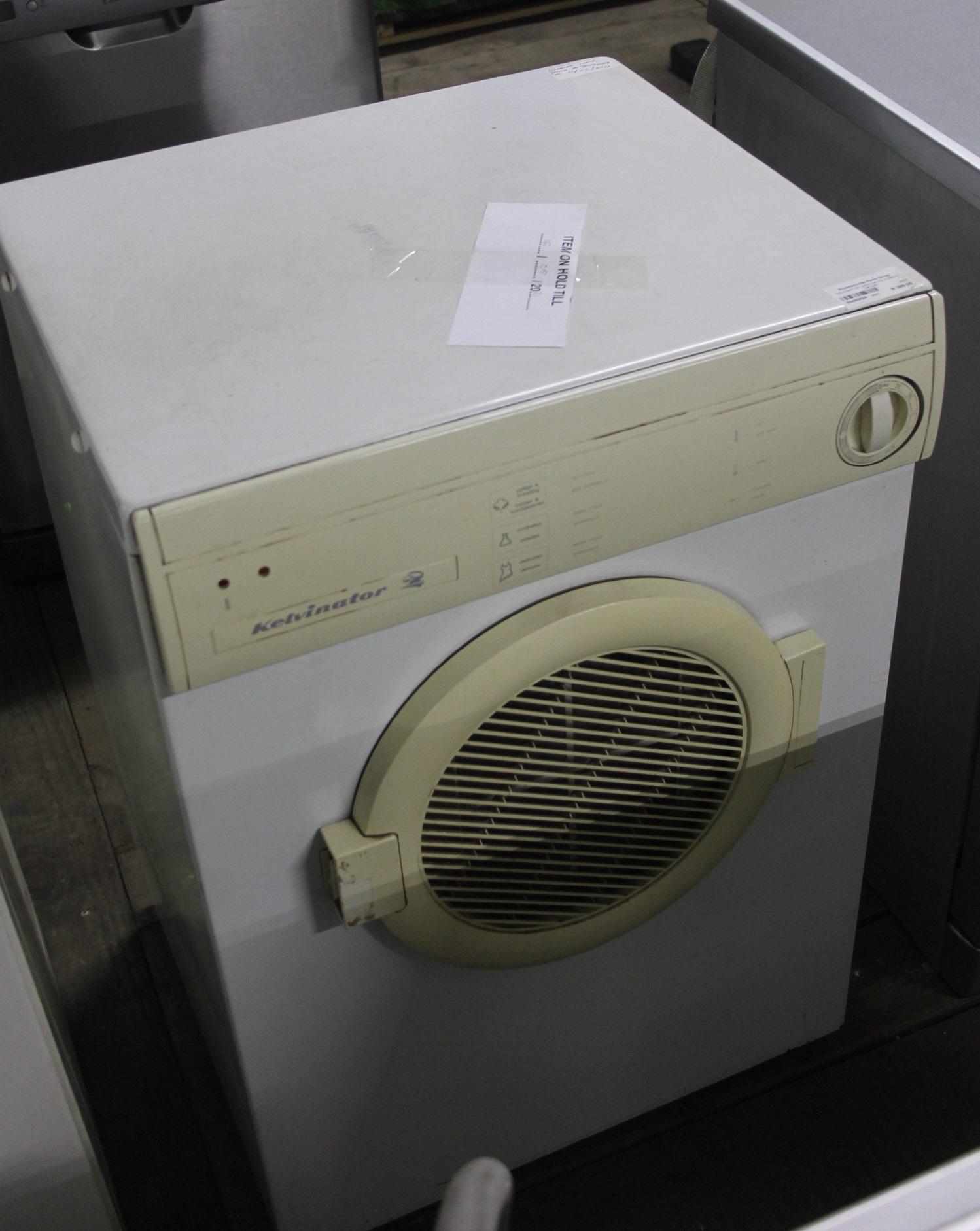 Kelvinator white tumble dryer S045082A #Rosettenvillepawnshop