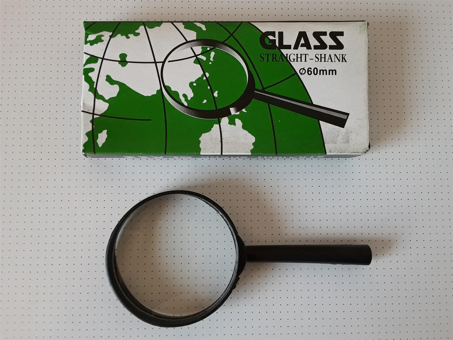 Magnifying Glass 60mm with handle.Brand new in a box.