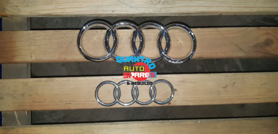 Audi front and rear badges for sale