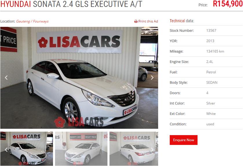 2013 Hyundai Sonata 2.4 GLS Executive