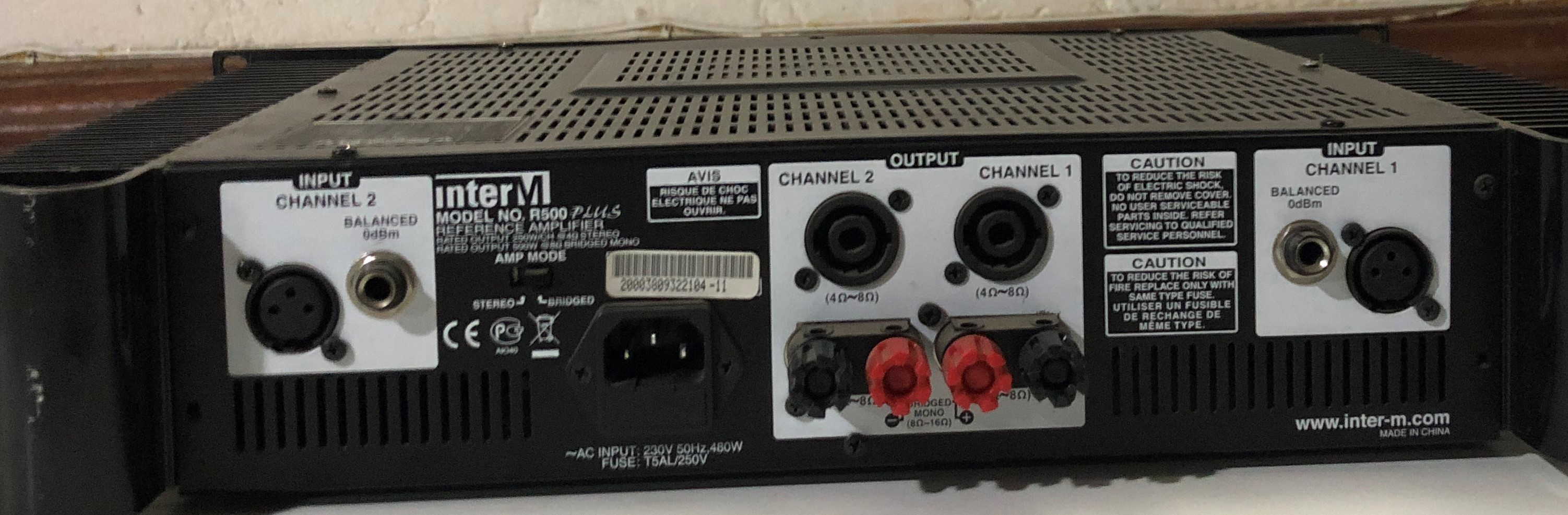 InterM R500 Reference Amplifier 250W + 250W 4ohm